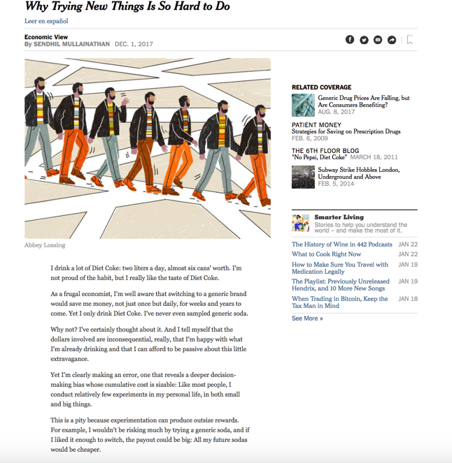 Screenshot of NYT story with image.