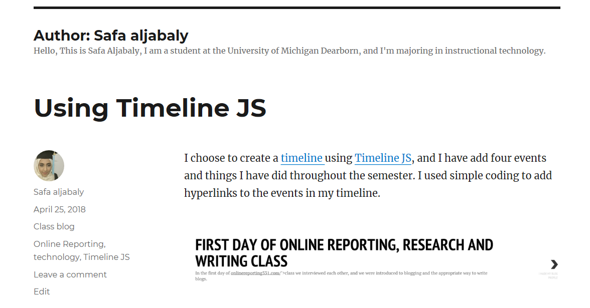 technology – Online Reporting, Research & Writing